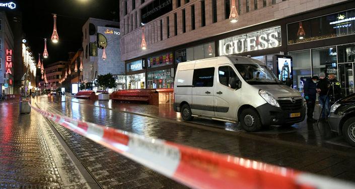 La Grote Marktstraat de La Haye après une attaque au couteau le 29 novembre 2019