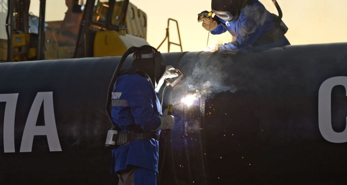 La construction du gazoduc Force de Sibérie