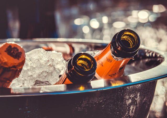 Des bouteilles de champagne