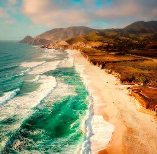 Une plage de Californie (image d'illustration)
