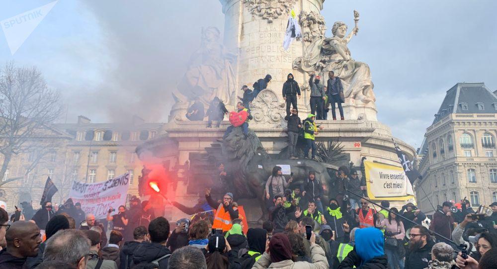 La grève générale à Paris, 17 décembre 2019