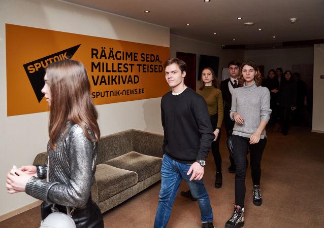 Dans les bureaux de Sputnik Estonie
