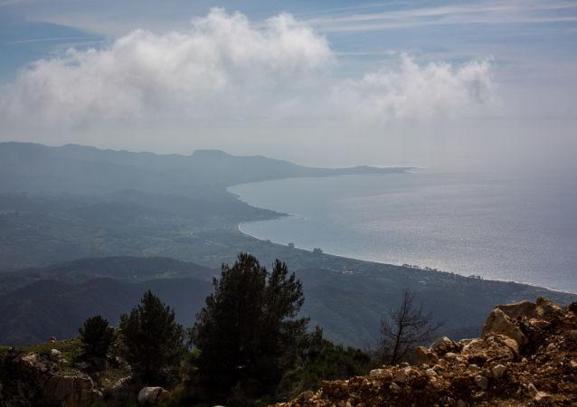 La côte syrienne de la Méditerranée