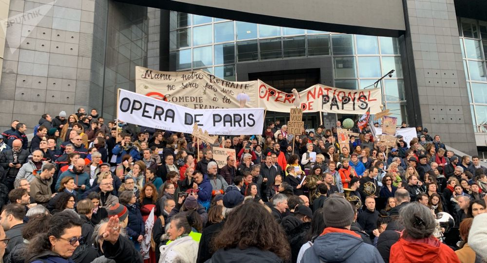 manif retraite opéra de Paris