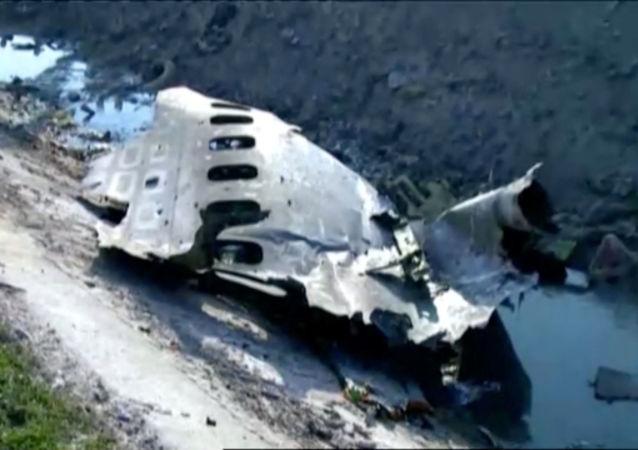 Un fragment du Boeing ukrainien