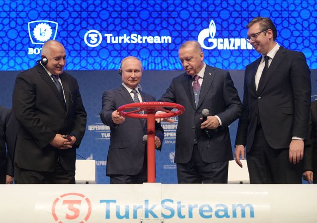 Lancement du gazoduc  Turkish Stream
