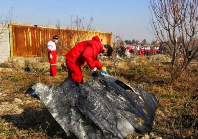 Un fragment du Boeing ukrainien abattu en Iran