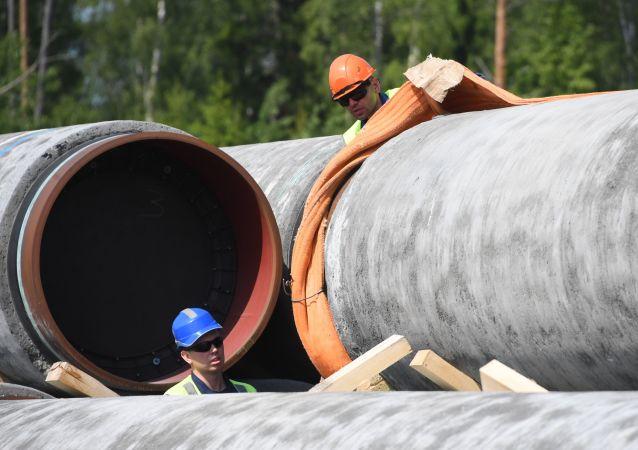 Les travaux de construction du gazoduc Nord Stream 2