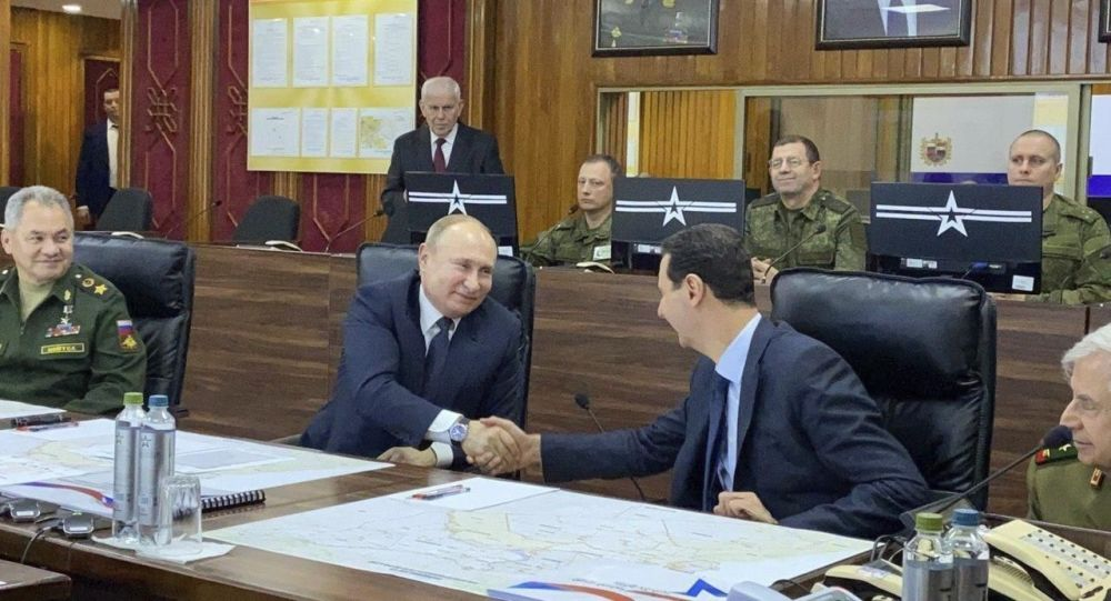 Russlands Präsident Wladimir Putin trifft seinen syrischen Amtskollegen Baschar al-Assad