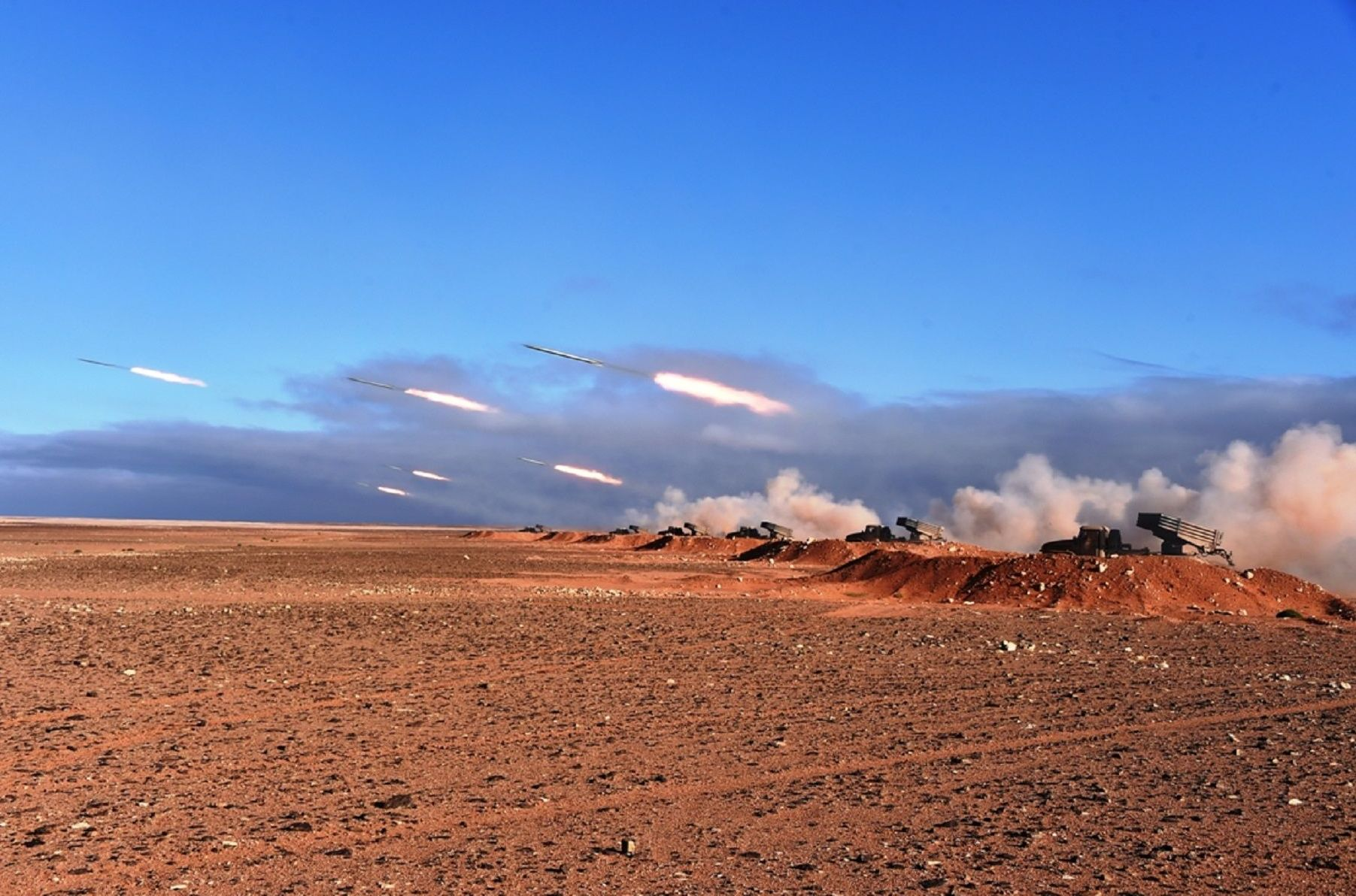 Manoeuvres avec munitions réelles «Borkane 2020», en 4e Région Militaire à Ouargla