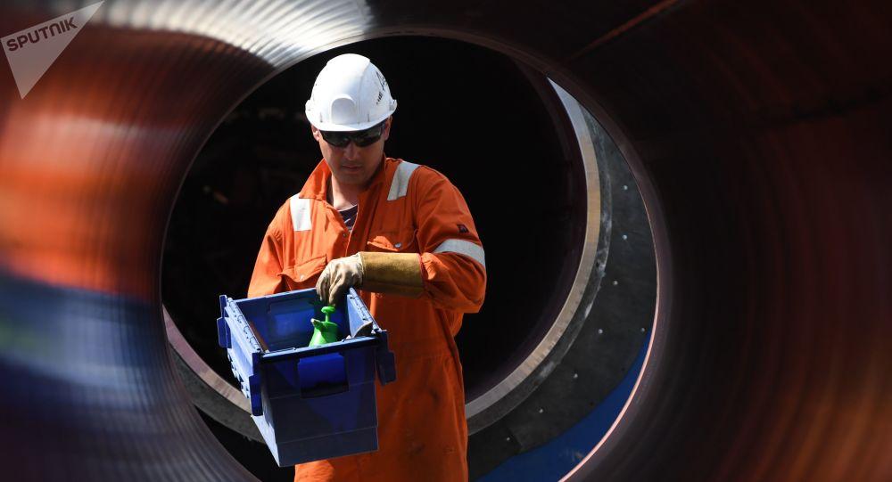Construction du gazoduc russe Nord Stream 2 (photo d'archives)