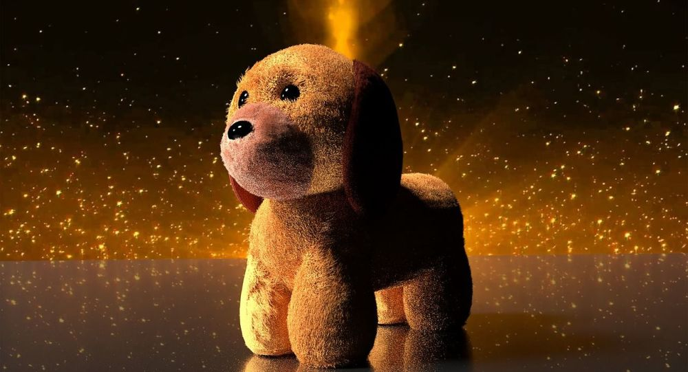 Un chien-jouet