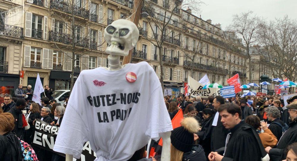 Manifestation des avocats contre la réforme des retraites, 3 février 2020