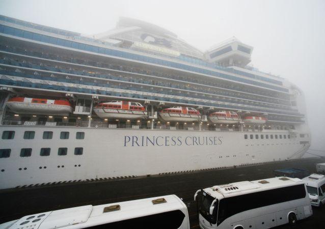 Un navire de croisière Diamond Princess