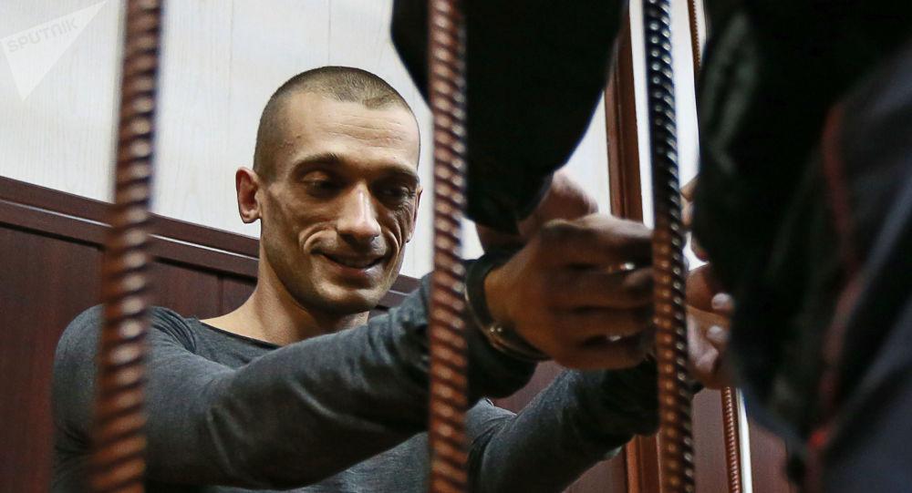 Piotr Pavlenski dans un tribunal de Moscou, archives
