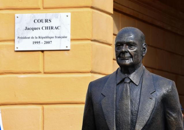 La statue de Jacques Chirac à Nice