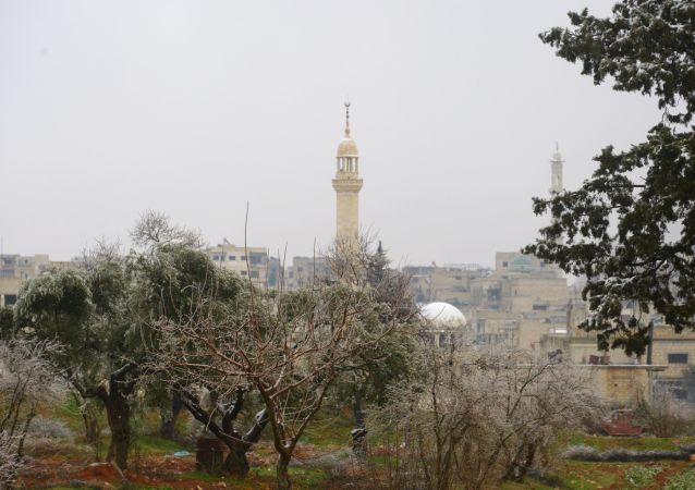 Une mosquée à Maarat al-Nouman (Idlib)