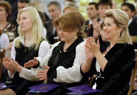 Svetlana Medvedeva au festival international de jeunes musiciens au Kremlin