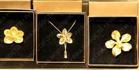 Сингапурские золотые орхидеи