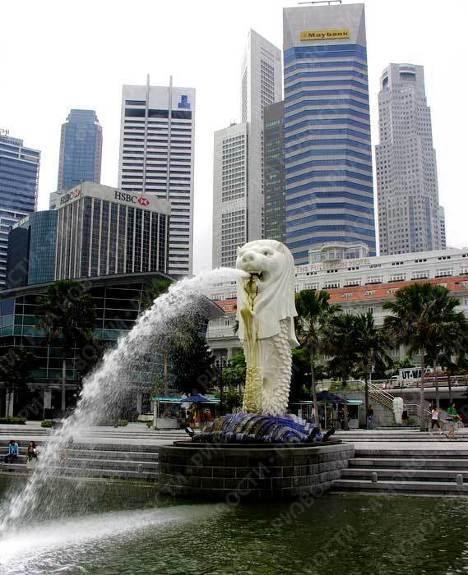 Главный и самый известный символ Сингапура - Морской Лев
