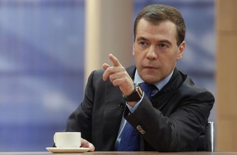 Д.Медведев подвел итоги года в эфире федеральных каналов
