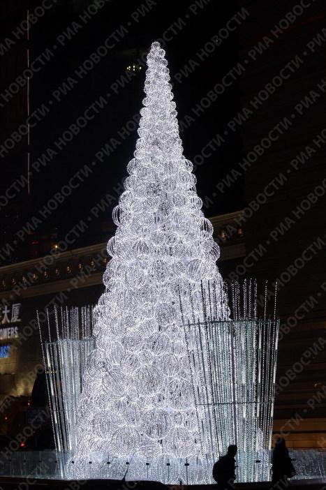 Новогодняя елка в Пекине