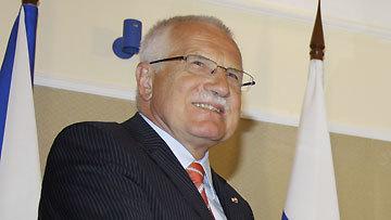 Président  tchèque Vaclav Klaus