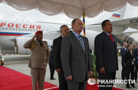 Vladimir Poutine en visite au Venezuela