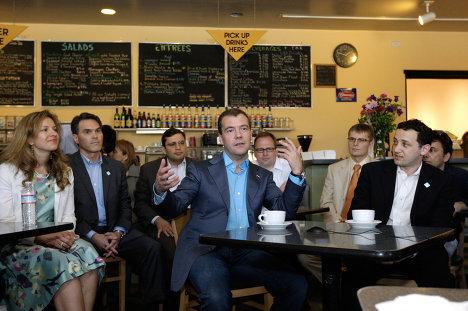 Рабочий визит Дмитрия Медведева в США. 2-й де