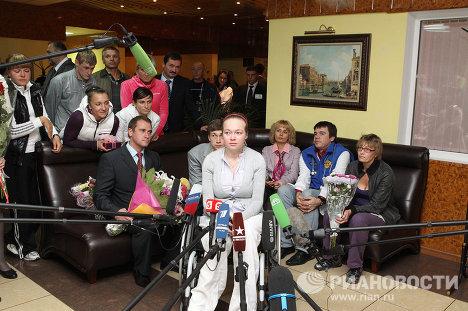 La bobeuse Irina Skvortsova est rentrée à Moscou