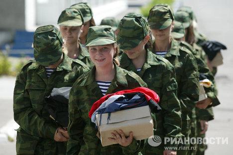 Девушки - курсанты Балтийского военно-морского института