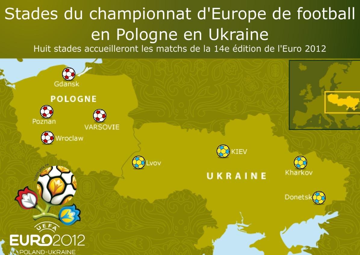 Pologne/Ukraine: les stades de l'Euro 2012