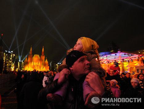Les lumières en fête sur la place Rouge