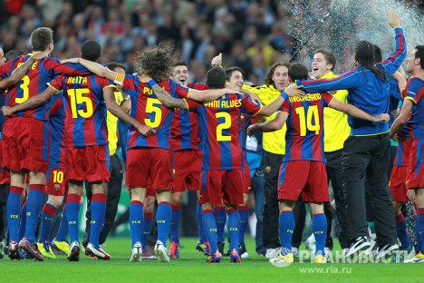 Футбол. Лига Чемпионов. Матч Барселона - Манчестер Юнайтед