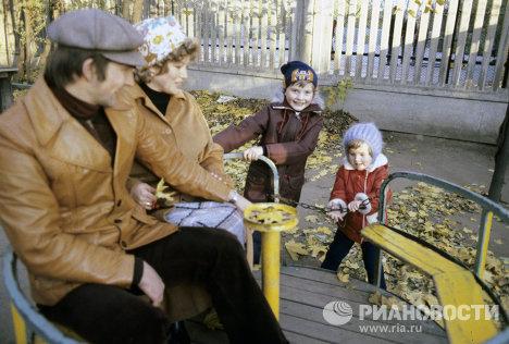 В.А.Третьяк с семьей