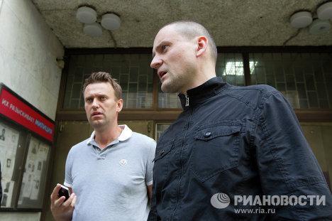 Оппозиционеры Навальный и Удальцов отпущены из ОВД Басманное
