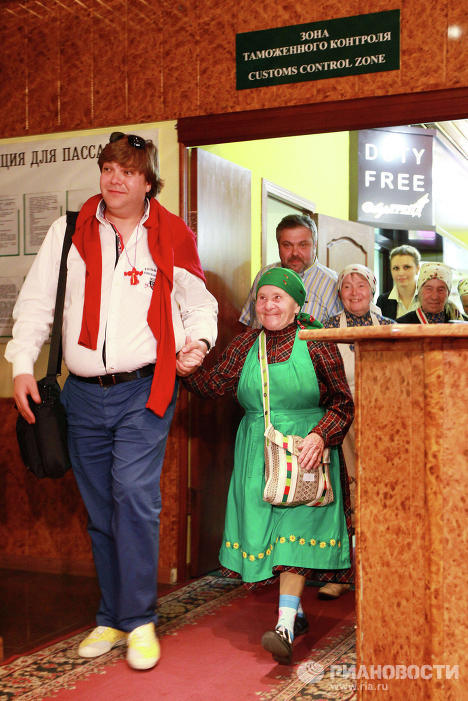 Прилет Бурановских бабушек в Москву