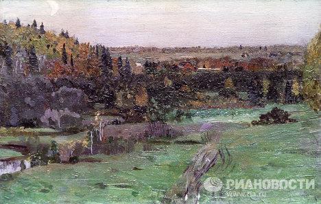 Этюд М.В. Нестерова Пейзаж в Абрамцево