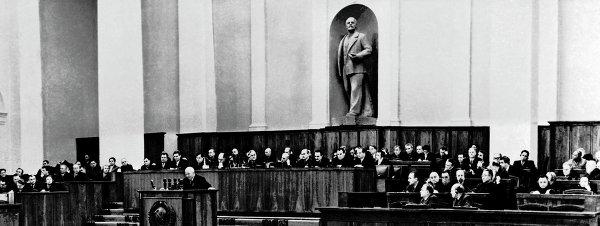 Выступление Н.Хрущева на XX съезде КПСС