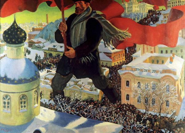 Репродукция картины Большевик