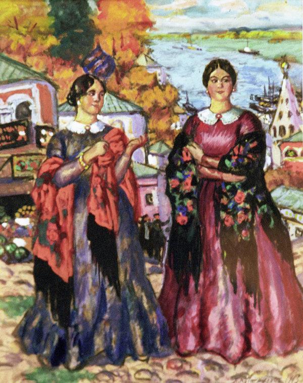 Репродукция картины Две купчихи