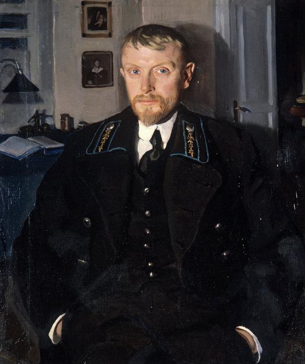 Репродукция картины работы художницы З.Е.Серебряковой Портрет Б.А.Серебрякова