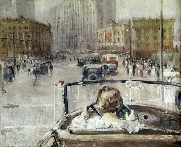 Репродукция картины «Новая Москва»