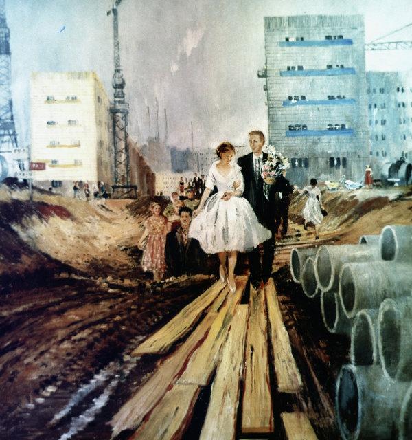 Картина Свадьба на завтрашней улице художника Юрия Пименова