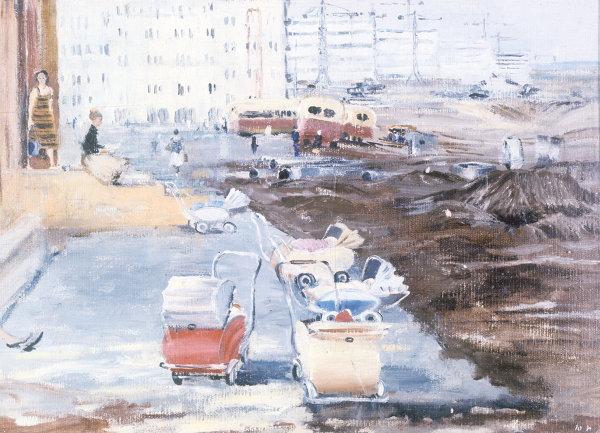 Картина Движущиеся границы города художника Юрия Пименова