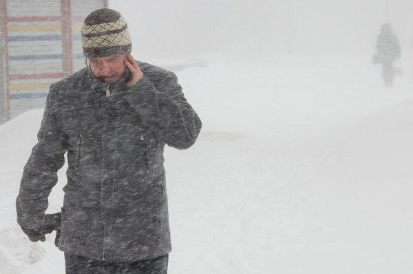 Снежный циклон на Сахалине
