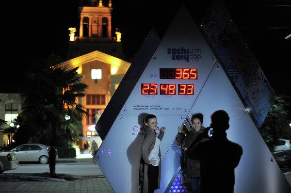 На Олимпийских часах обратного отсчета - 365 дней