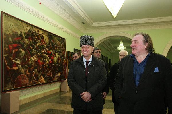 Визит французского актера Жерара Депардье в Грозный
