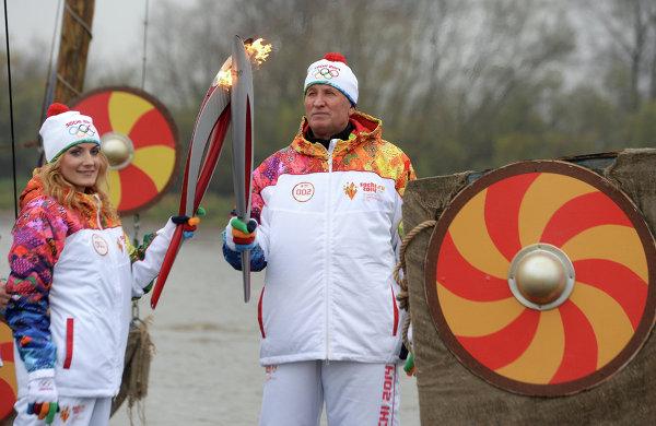 Эстафета Олимпийского огня. Великий Новгород