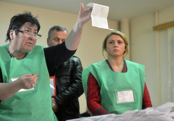 Подчет голосов по выборам президента Грузии